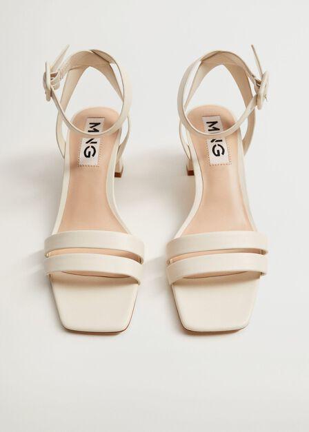 Mango - natural white Heel strips sandals