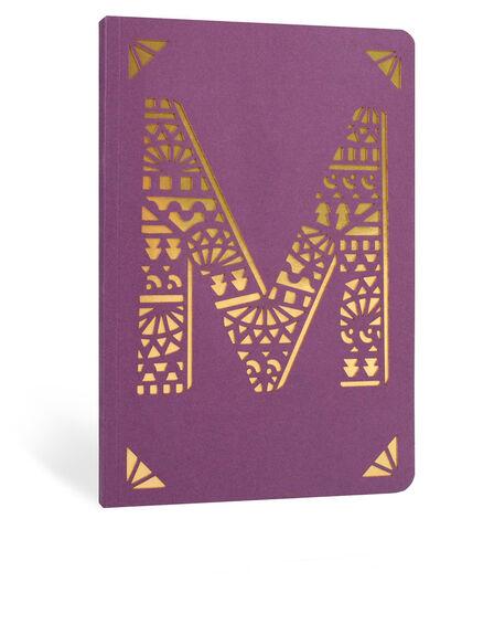 PORTICO DESIGN LTD - Portico Design M Monogram Purple A6 Notebook