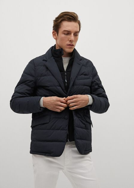 Mango - navy Waterproof feather down coat