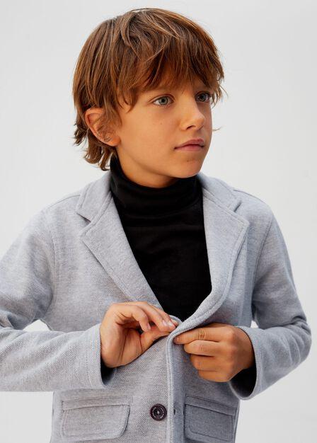 Mango - medium grey Structured textured blazer