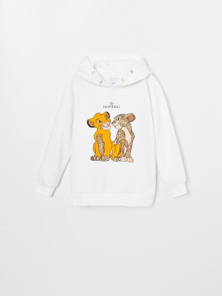 Reserved - Cream Hoodie The Lion King, Kids Girl