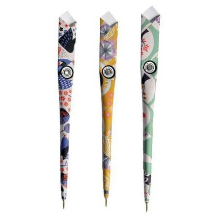 LETTERBOX PARIS - Letterbox Paris Plume De Papier 15 Ballpoint Pens 3 Designs Origami