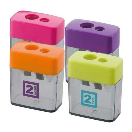 DELI - Deli Pencil Sharpener 2 Hole with Canister [Assortment - Includes 1]