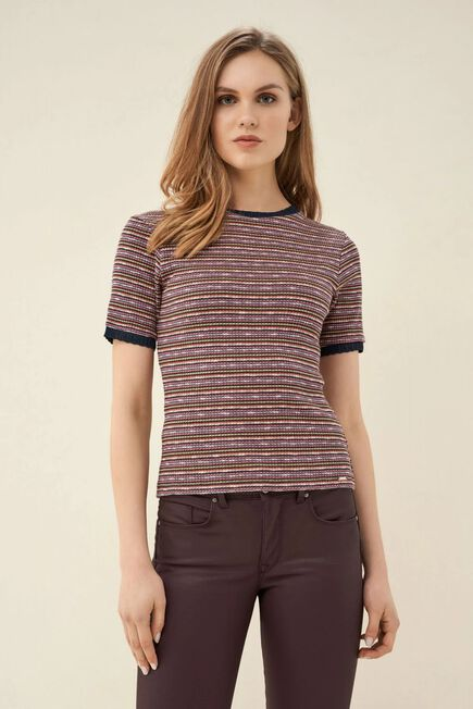 Salsa Jeans - Blue Striped knitted t-shirt
