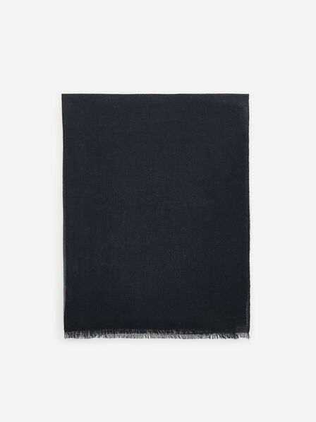 Reserved - Ladies' Reversible Wool Scarf - Black