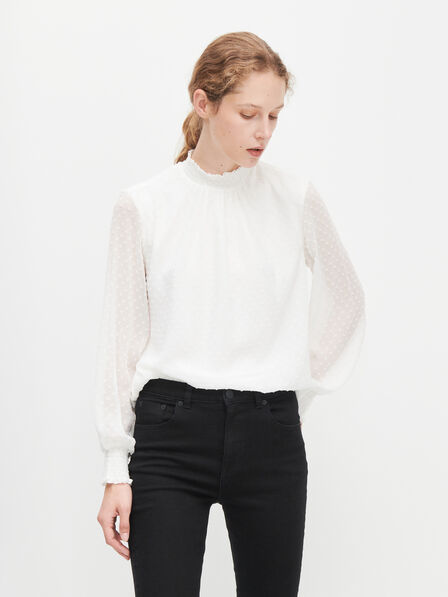Reserved - Ladies' Blouse - Ivory