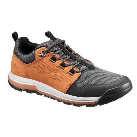 QUECHUA - EU 45  Men's hiking shoes NH500, Hazelnut