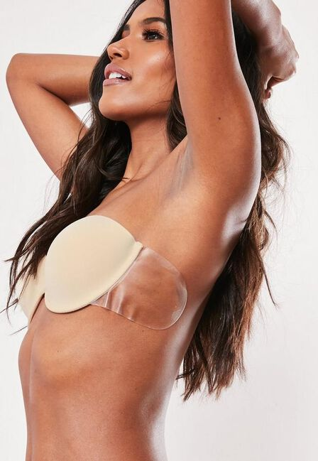Missguided - Nude Secret Winged Stick On Strapless Bra