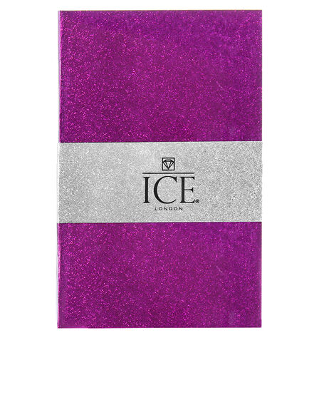 ICE LONDON - Ice London Glitter Notebook Purple