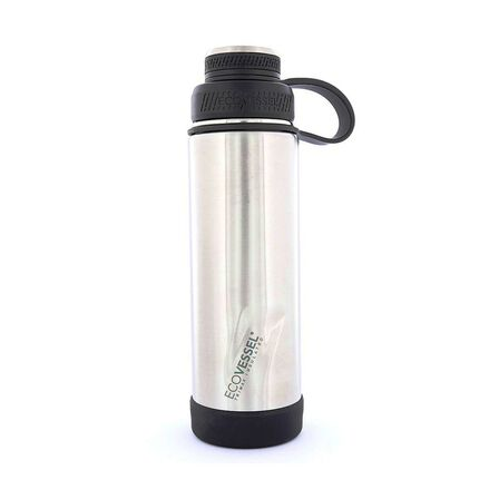 ECO VESSEL - Ecovessel Boulder Trimax Protective Bumper Silver Express Water Bottle 590 ml