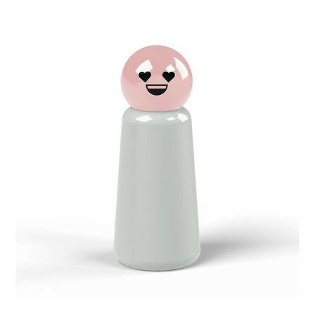 LUND LONDON - Lund London Skittle Bottle Mini Light Grey And Pink Heart 300ML