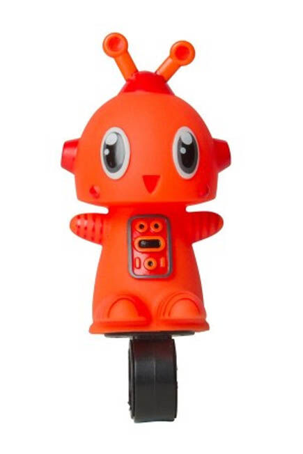 BTWIN - Unique Size  Robot Children's Bike Horn, Orange