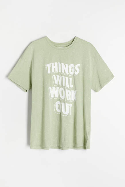 Reserved -    Oversized T-shirt - Green