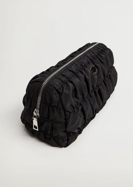 Mango - black Ruched cosmetics bag