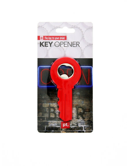 PRESENT TIME INC - Present Time Bottle Opener Key Red