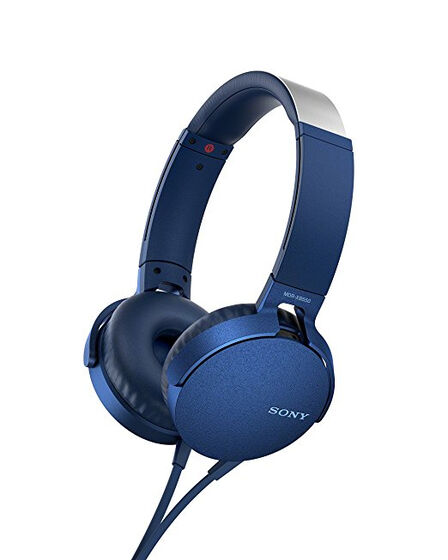 Sony - Sony MDR-XB550AP Extra Bass Headphones With Mic For Calls Blue