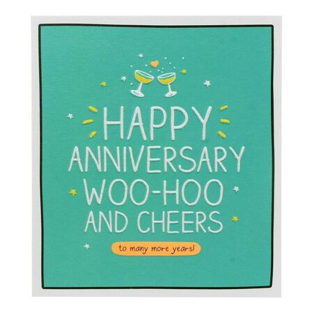 PIGMENT PRODUCTIONS - Happy Jackson Anni Woohoo And Cheers 160X176 Greeting Card