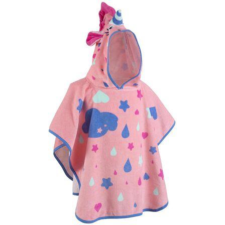 NABAIJI - Baby Poncho With Hood Pink Unicorn Print - Pastel Pink