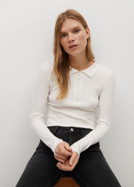 Mango - Open Grey Kim Skinny Push-Up Jeans