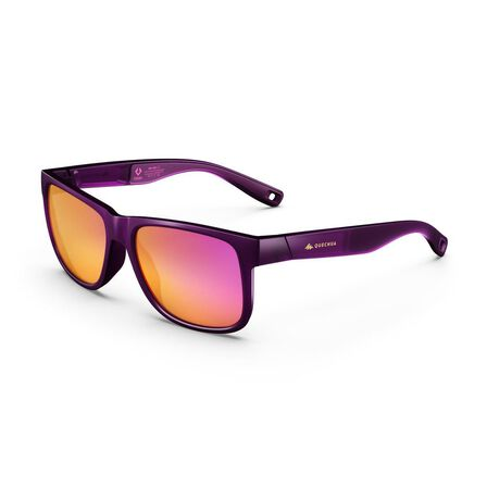 QUECHUA - Unique Size  Adult Category 3 Hiking Sunglasses MH140, Damson