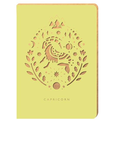PORTICO DESIGN LTD - Portico Design Capricorn Zodiac Yellow A6 Notebook