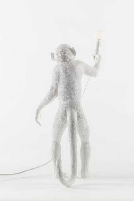 Seletti - Monkey Lamp Standing White Indoor