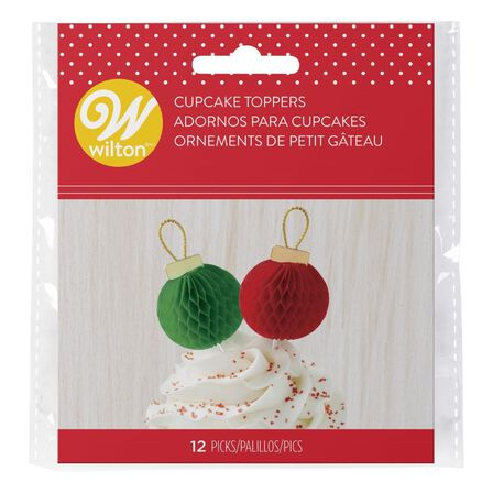 WILTON BRANDS INC. - Wilton Xmas Ornament Fun Picks [12 Pack]