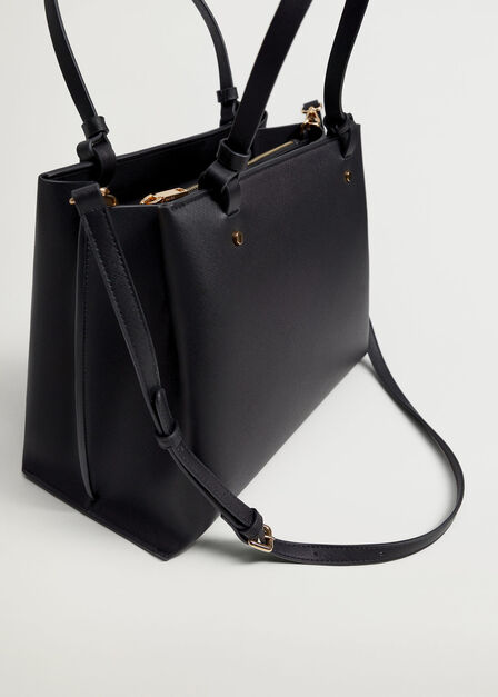 Mango - Black Shopper bag with handles
