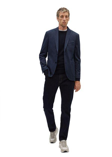Mango - navy Slim fit herringbone structured blazer