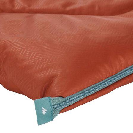 QUECHUA - Camping Sleeping Bag Arpenaz 10°C - Dark Sepia