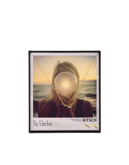 KITSCH - Kitsch Be Electric Gold Necklace & Earring Set