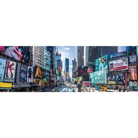PYRAMID POSTERS - New York Times Square Panoramic Poster [30.5 x 91.5 cm]