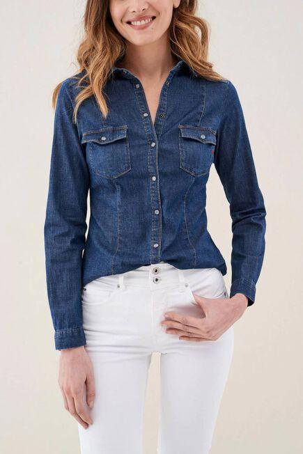 Salsa Jeans - Blue Denim shirt with buttons