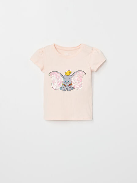 Reserved - Coral Cotton T-Shirt, Kids Girl