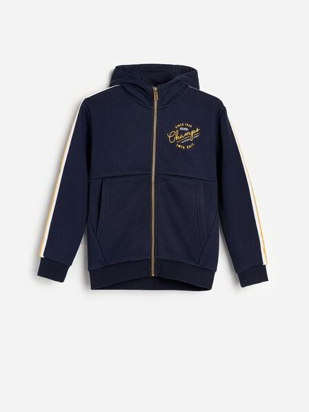 Reserved - Navy Sweatshirt Stripes And Print, Kids Boy