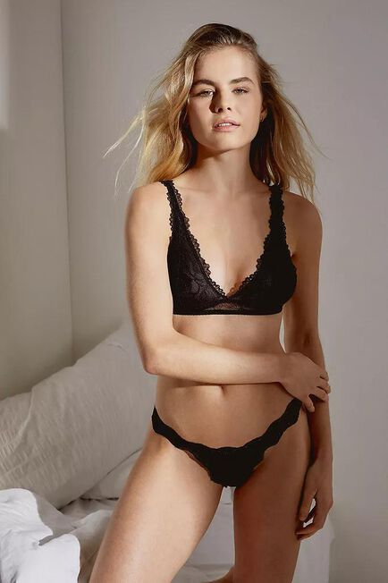 Urban Outfitters - Black Out From Under Ariella Thong, Women