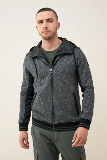 Salsa Jeans - Black Cotton sweater with zipper
