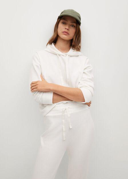Mango - natural white Hooded knit sweatshirt