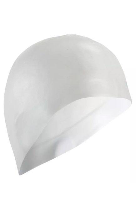 NABAIJI - 500 Silicone Swim Cap - White, Unique Size