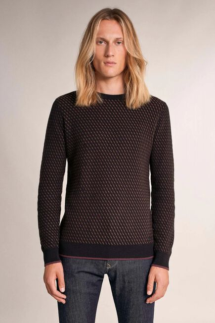 Salsa Jeans - Black Thick sweater with detail