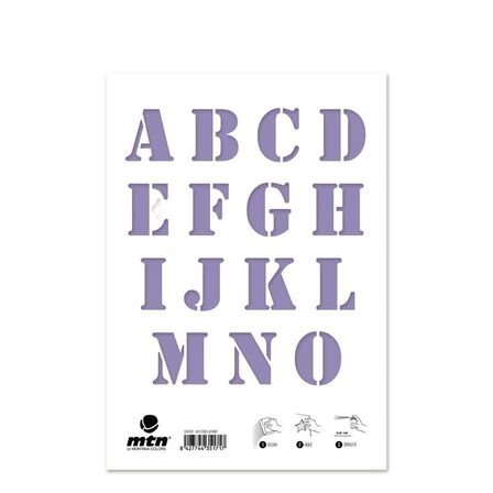 MONTANA COLORS SL - Montana Colors MTN Stencils Alphabet