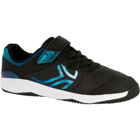 ARTENGO - EU 28  TS160 Kids' Tennis Shoes, Black