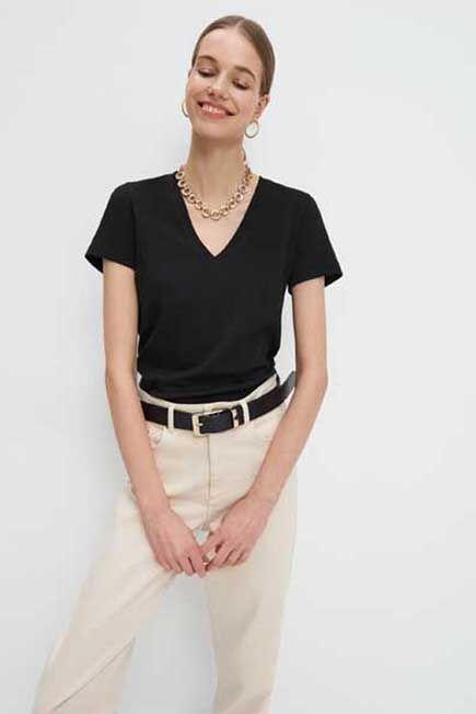 Mohito -  Plain Basic T-Shirt Eco Aware - Black