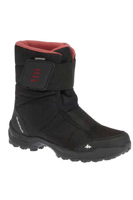 QUECHUA - Women's snow hiking boots sh100 x-warm - black-pink, EU 37
