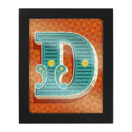 RIDLEYS - Ridleys Alphabet Jigsaw Puzzle with Frame Letter D