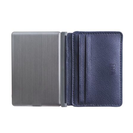 INE - Ine Wallet & Charger Recycled Leather Blue