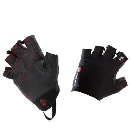 DOMYOS - XL/2XL  100 Weight Training Gloves - Black/Red, Cherry Red