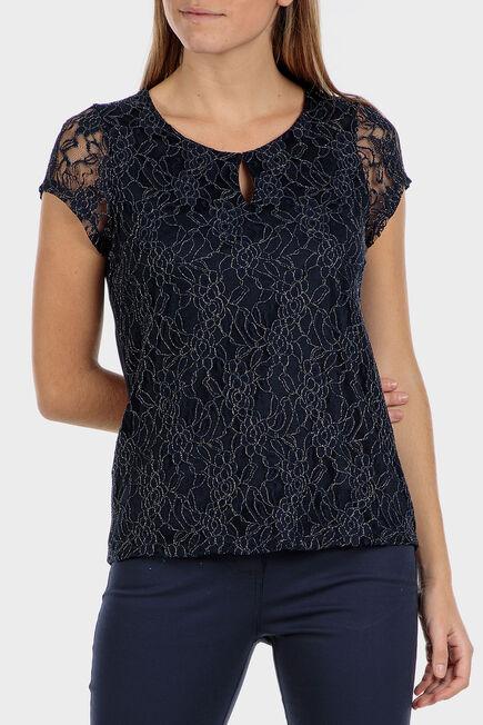 Punt Roma - Floral lace t-shirt