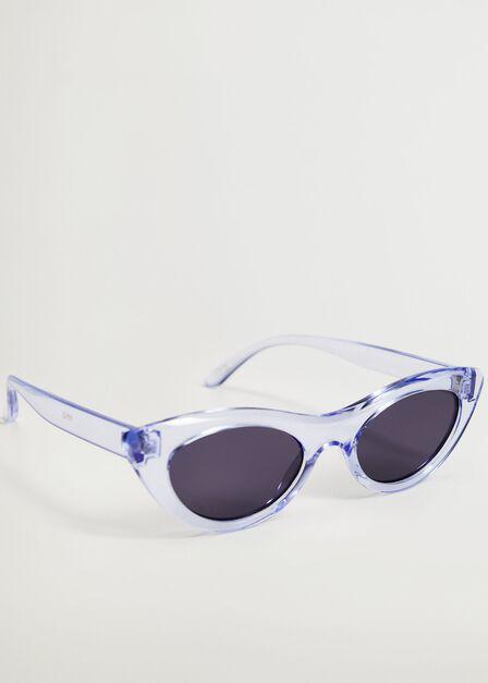 Mango - medium blue Cat-eye sunglasses, Women