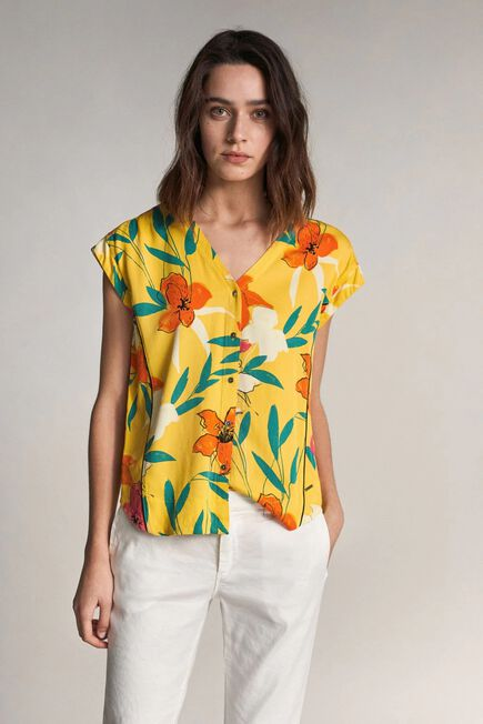 Salsa Jeans - Yellow Tunic with allover floral print